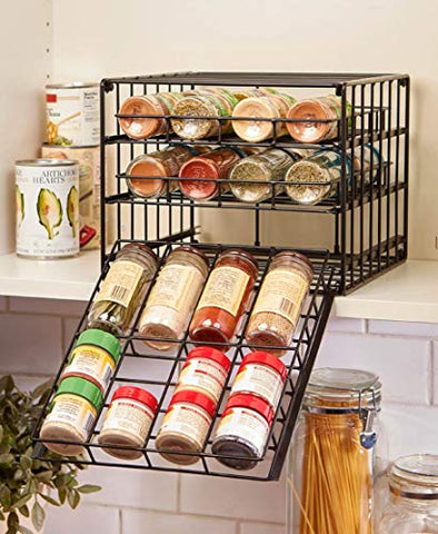 The Lakeside Collection Metal Cabinet Spice Rack