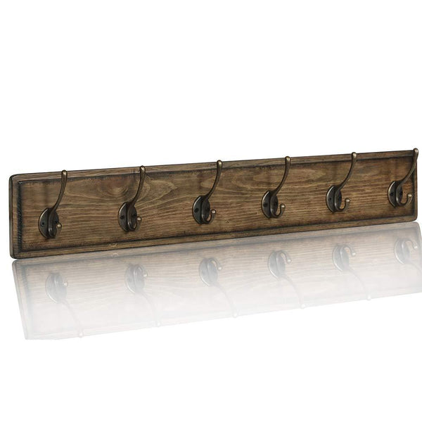 Get argohome coat rack wall mounted wooden 27 coat hooks scroll hook 6 rustic hooks solid pine wood perfect touch for entryway bathroom closet room