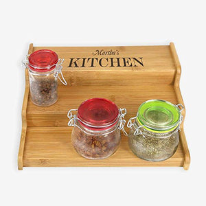 Personalized 3-tier Spice Rack Cabinet Organizer for bathroom, kitchen or Desk area
