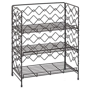 3-Tier Organizer Rack, EZOWare Wire Basket Storage Container Countertop Shelf for Kitchenware Bathroom Cans Foods Spice Office and more - Black