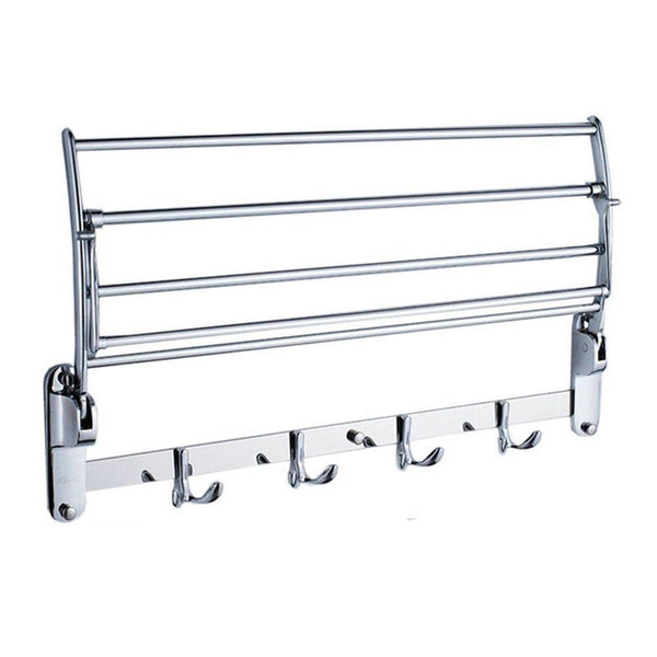 Kitchen garbnoire 202 grade stainless steel 2 feet long folding bathroom towel rack swivel towel bar stainless steel wall mounted shelf organization for storage hanging holder above toilet hotel home