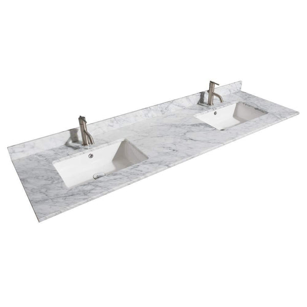 Discover wyndham collection daria 72 inch double bathroom vanity in dark gray white carrara marble countertop undermount square sinks and 24 inch mirrors
