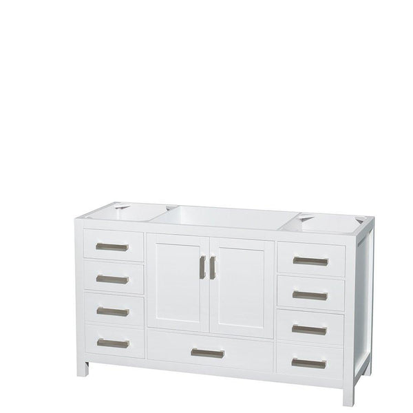 Save on wyndham collection sheffield 60 inch single bathroom vanity in white white carrera marble countertop undermount square sink and 58 inch mirror