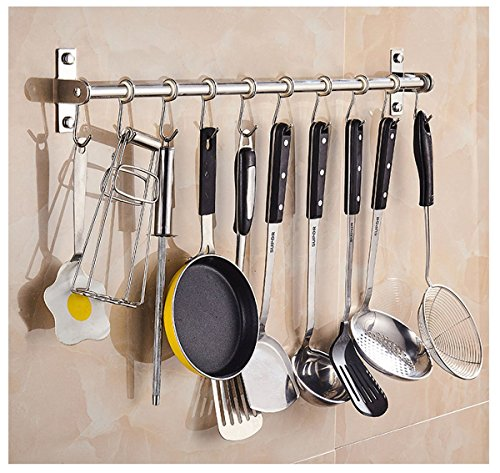 Ecentaur Kitchen Utensils Organizers Wall Mounted Hanging Holder Pot Spice Storage Hook