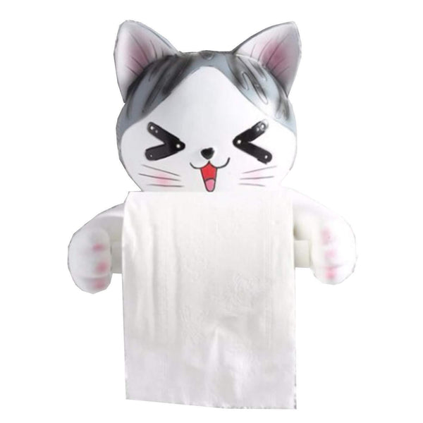 Exclusive c s toilet paper holder dispenser tissue roll towel holder stand funny animal wall mount bathroom kitchen home decor cat