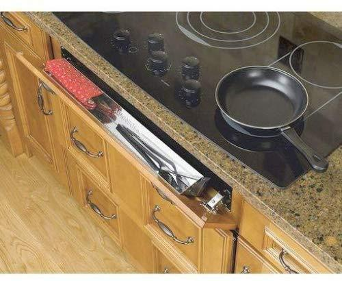 Rev-A-Shelf 14-1/4 in Stainless Steel Tip-Out Tray Silver