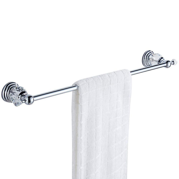 Shop for wolibeer silver bathroom accessory set of 4 pieces towel hook towel rail towel holder roll tissue holder wall mounted zinc alloy construction with crystal chrome finished