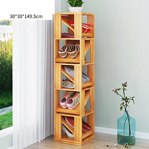 MCUWEHGFET Creative Shoe Rack [Multilayer],[Simple],shoebox Home Shoe Rack Multifunctional revolving Frame-D