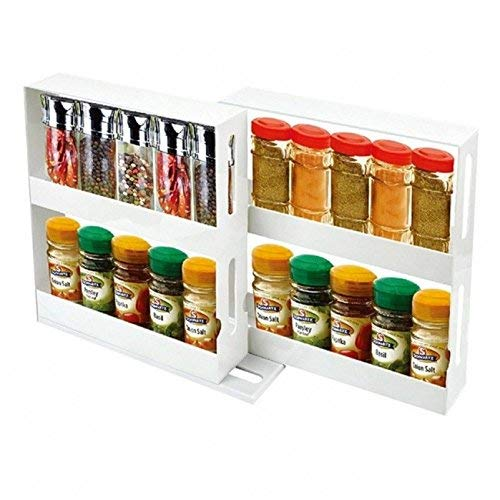 Spice Rack organizer Storage System Swivel Store for easy access