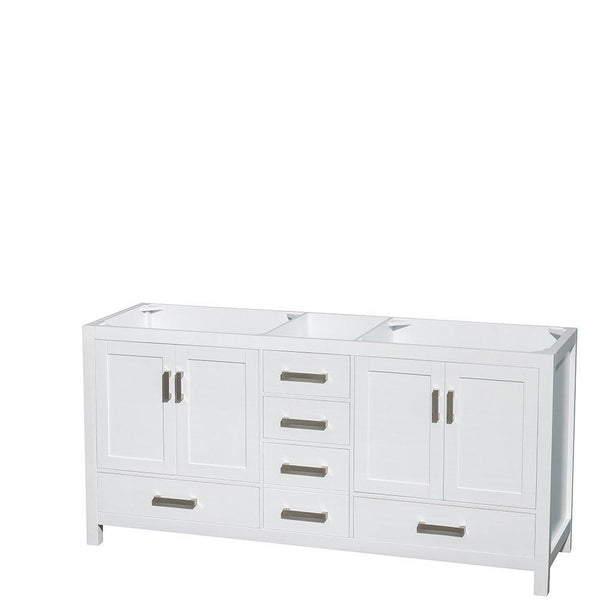 Online shopping wyndham collection sheffield 72 inch double bathroom vanity in white white carrera marble countertop undermount square sinks and 24 inch mirrors