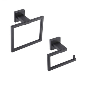 Shop for kes bathroom accessories toilet paper holder towel ring sus304 stainless steel rustproof 2 piece morden wall mount matte black finish la24bk 21