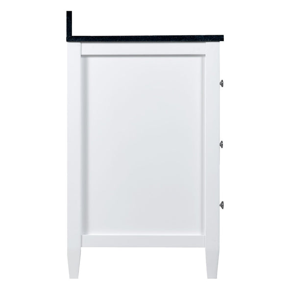 Buy now maykke cecelia 60 bathroom vanity cabinet 2 door 3 drawer solid birch wood frame white finish new england style double surface mounted vanity base cabinet only with tapered legs ysa1146001