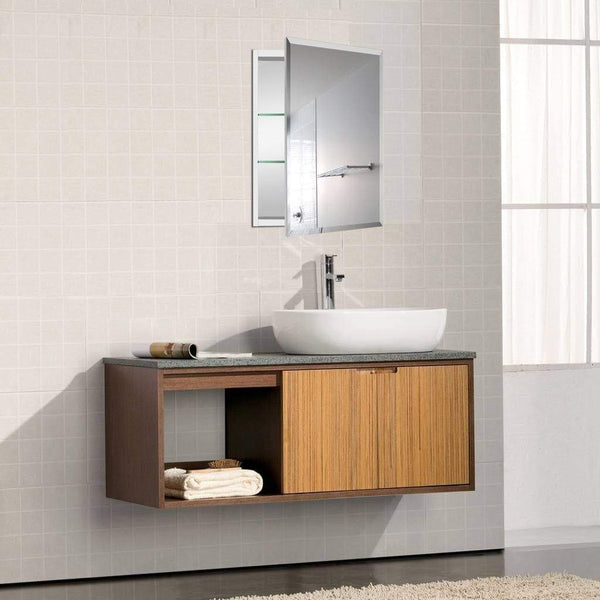 Featured b c 19x30aluminum medicine cabinet with mirror color black bathroom mirror cabinet with adjustable glass shelves storage cabinet for bathroom recessed or surface mounting