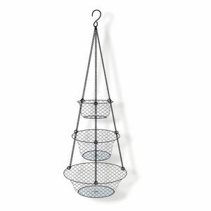 3-Tier Hanging Basket, Storage Organizer for Fruits,Vegetables, Accessory,Perfer for Kitchen and Bathroom
