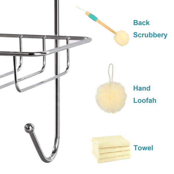 Shop hontop shower caddy storage organizer with 3 baskets over the door rack for bathroom kitchen storage shelves toiletries spice towel and soap holder