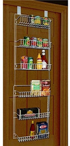 Smilingtree,Storage-Dynamics-5-Foot-Over-The-Door-Rack-Organizer-Kitchen-Pantry-Spice-Shelf,kitchen organizer door