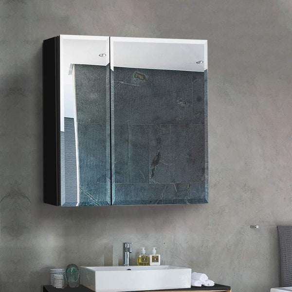 Latest b c 30x26 aluminum medicine cabinet with mirror color black bathroom mirror cabinet with adjustable glass shelves storage cabinet for bathroom recessed or surface mounting