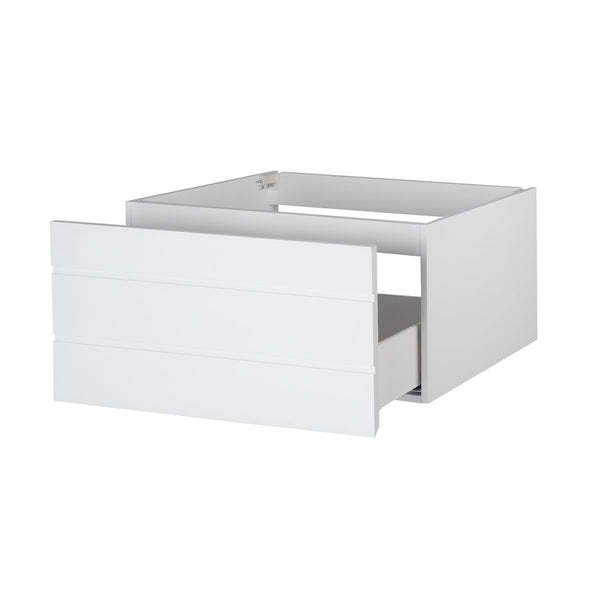Top maykke dani 36 bathroom vanity cabinet in birch wood white finish modern and minimalist single wall mounted floating base cabinet only ysa1203601