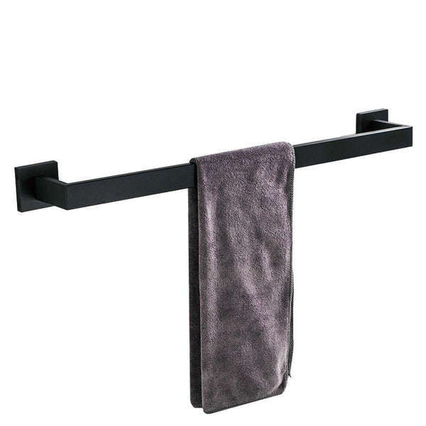 Home leyden modern 4 pieces bathroom sets robe hook towel bar toilet paper holder towel ring bathroom hardware accessory matte black