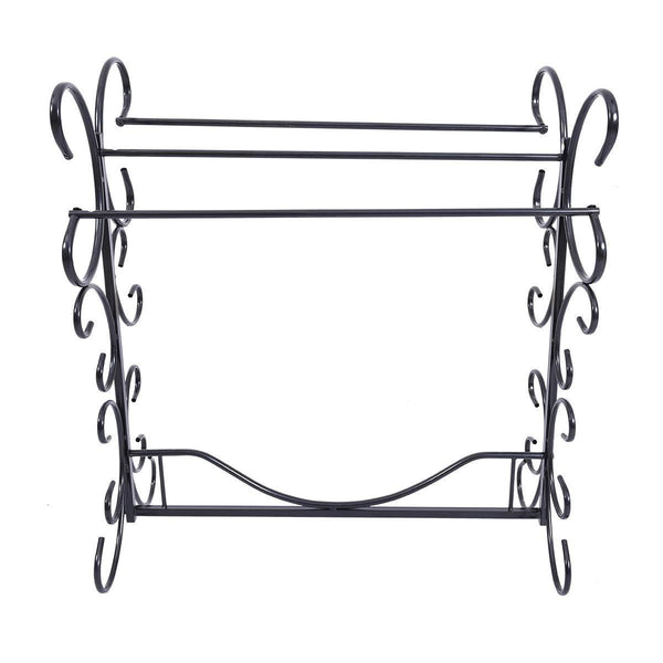 Storage organizer homerecommend free standing towel rack 3 bars drying rack metal organizer for bath hand towels outdoor beach towels washcloths laundry rooms balconies bathroom accessories