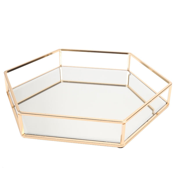 Exclusive vintage glass tray for decoraive vanity perfume jewelry trinket countertop holder dresser cosmetic organizer ornatte bathroom dish display