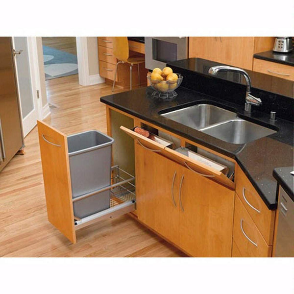 "Rev-A-Shelf 11-1/4"" Stainless Front Tray Sink Base Organizers Silver"