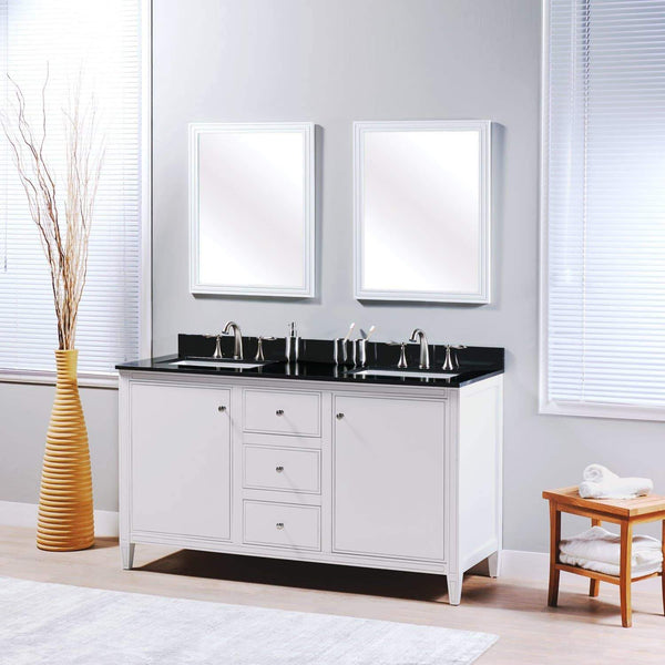 Budget friendly maykke cecelia 60 bathroom vanity cabinet 2 door 3 drawer solid birch wood frame white finish new england style double surface mounted vanity base cabinet only with tapered legs ysa1146001