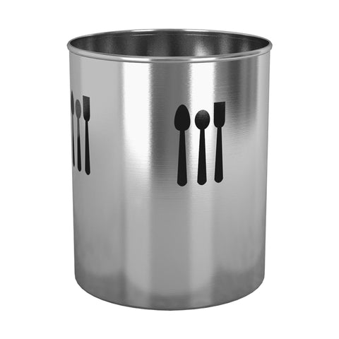 nu steel TG-UH-16 Utensils Holder Finish with Cutout 4 Qtr. (Spoon), 7.5'' H X 7.5'' W X 7.5'' D, Brushed