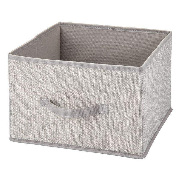 Shop for mdesign soft fabric closet storage organizer holder cube bin box open top front handle for closet bedroom bathroom entryway office textured print 2 pack linen tan