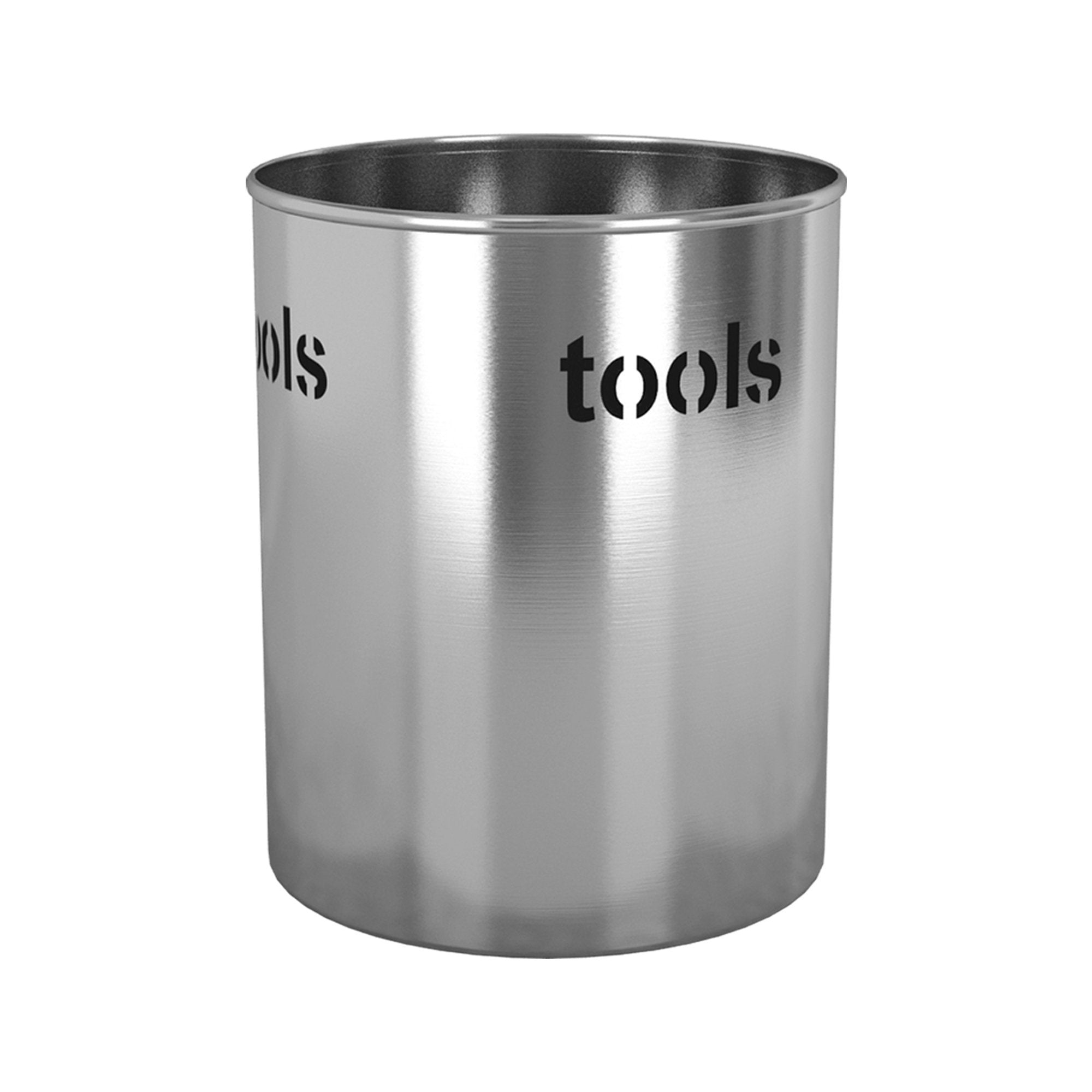 nu steel TG-UH-15 Utensils Holder, 7.5'' H x 7.5'' W x 7.5'' D, Brushed
