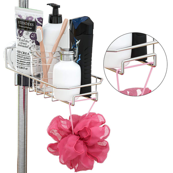 Discover the best leefe 2pcs kitchen faucet sponge holder stainless steel storage rack hanging sink caddy organizer for scrubbers soap bathroom detachable no suction cup or magnet no drilling