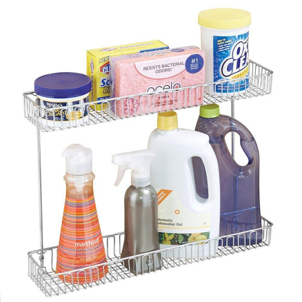 Select nice interdesign classico metal 2 tier shelf under sink organizer for kitchen bathroom cabinets 16 75 x 4 25 x 13 chrome