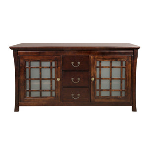 Storage organizer ronbow shoji 60 inch living room bathroom furniture in vintage walnut wood cabinet with three drawers wood countertop 040460 d f07_kit_1