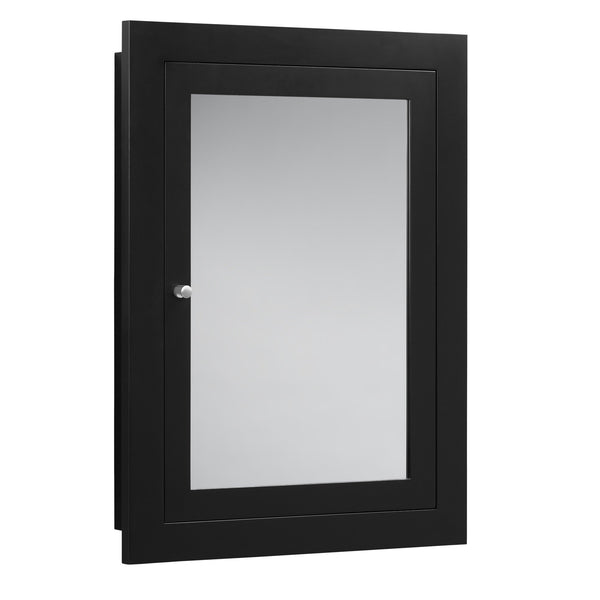 Save ronbow frederick 24 x 32 transitional solid wood frame bathroom medicine cabinet in black 2 mirrors and 2 cabinet shelves 618125 b02