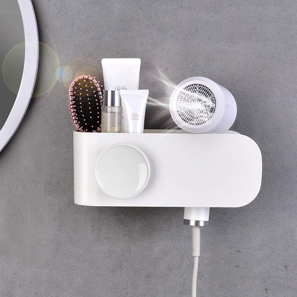 Results termichy hair dryer holder wall mounted blow dryer holder with cable tidy heat resistant spiral hanging rack for bathroom bedroom white