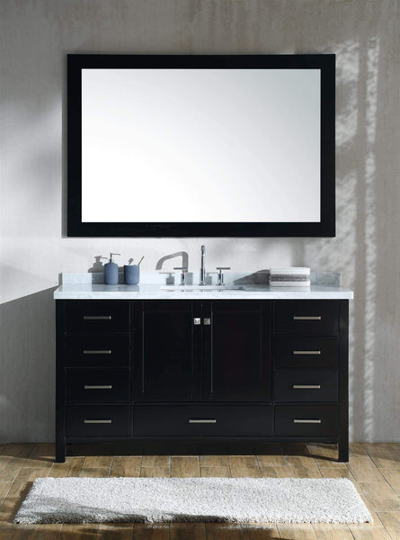 Explore ariel cambridge a061s cwr esp 61 inch single sink bathroom vanity set in espresso with carrara white marble countertop rectangular sink