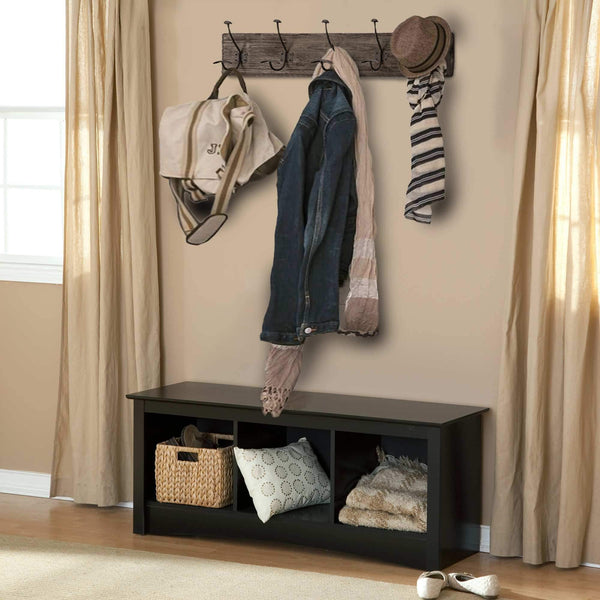 Buy avignon home rustic coat rack with hooks vintage wooden wall mounted coat rack 38 inches wide and 7 inches high for entryway bathroom and closet