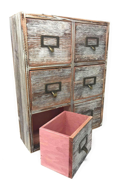 Amazon best farmhouse decor desk organizer storage cabinet bathroom home shelves kitchen living room bedroom furniture apothecary drawers rustic wood distressed finish