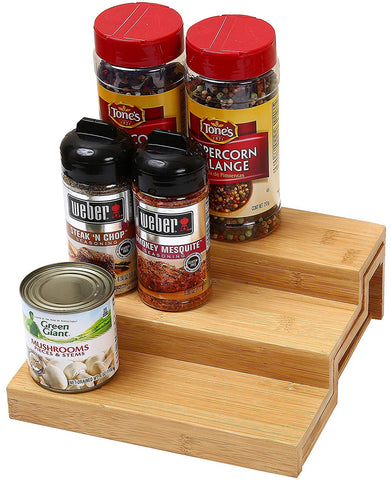 Ybm Home 3 Tier Spice Rack Step Shelf Organizer 334 (1, 10 in. L x 8.45 in. W x 3.45 in. H)