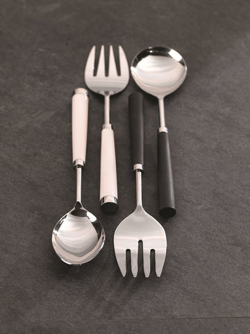 Zodax Palm Desert 2-Piece Salad Server Set, Black Serving, 2