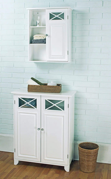 Home elegant home fashions 6841 dawson bathroom cabinet white