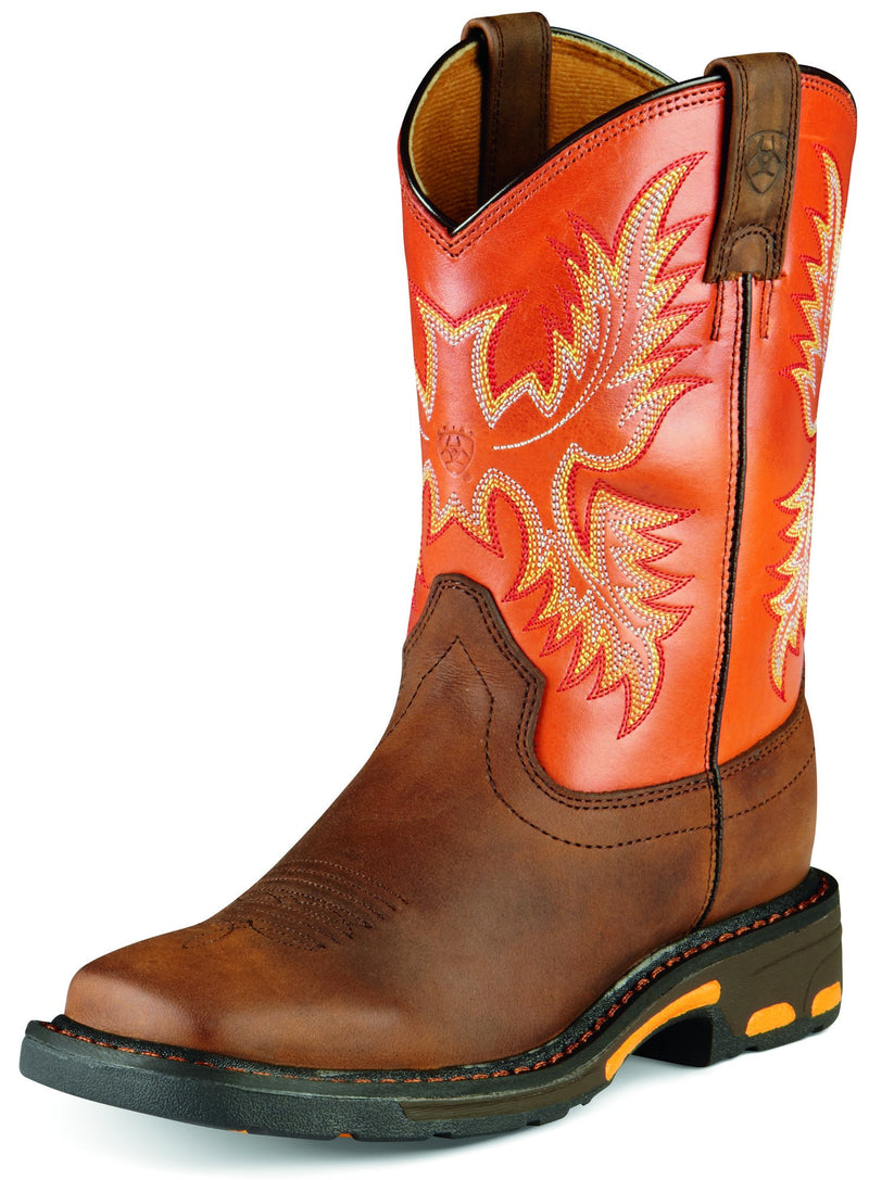 Kid's WorkHog Wide Square Toe Western Boot