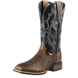 Men's Black & Brown Tombstone Western Boots