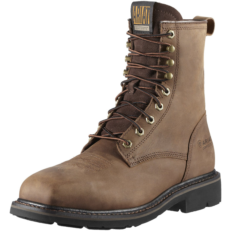 Men's Lace Up Cascade 8 inch Steel Toe Work Boot