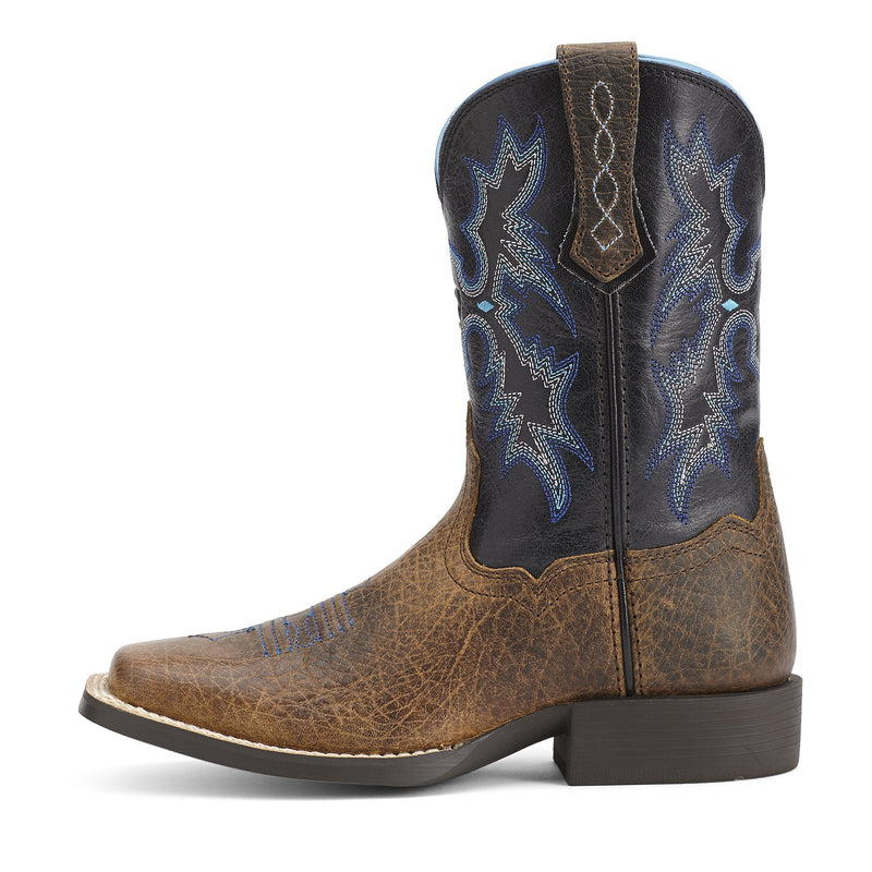 Kids' Tombstone Brown/Black Cowboy Boots
