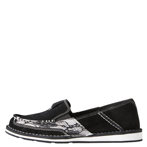 Women's Black Lace Cruiser Shoe