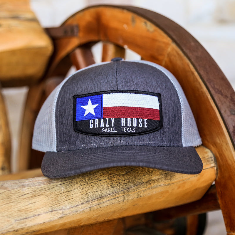 Texas Flag Patch - Heather and Light Grey