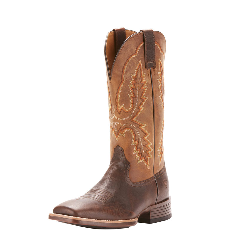 Men's Pecos Wicker Brown Square Toe Western Boots