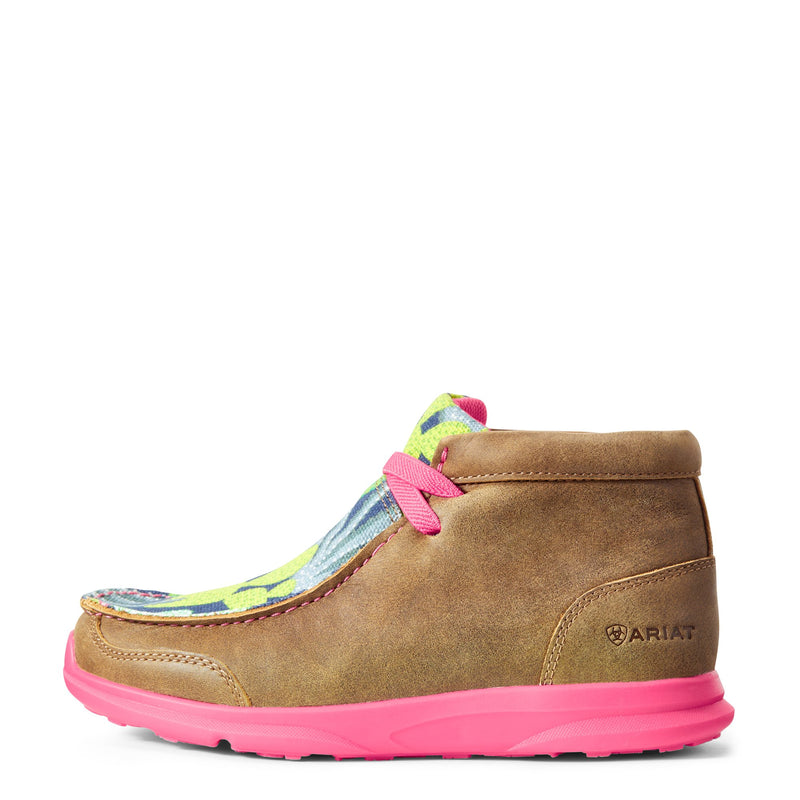 Girl's Spitfire Brown Bomber Pink Mint Cactus Shoes