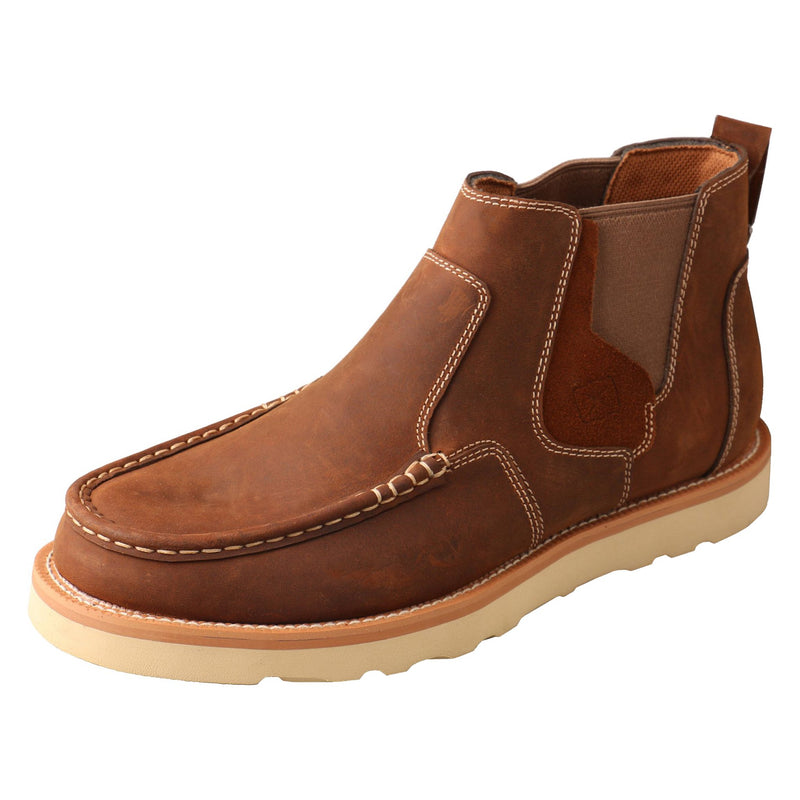 Men's 4″ Double Gore Wedge Sole Boot